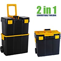 Tool Chest Box 2in1 Mobile on Wheels Large Lockable Roller Storage Stanley Style