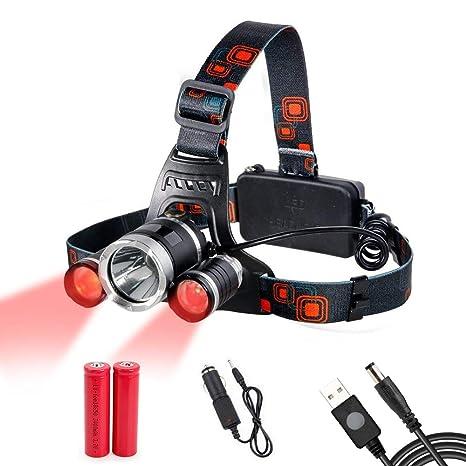 Headlamp Red Lighting Led Headlight 4 Modes Hands Free Flashlight