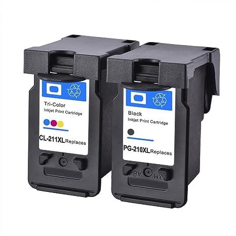 ESTON 2 Pk PG 210XL CL 211XL Black Color Ink Cartridge For Pixma MG