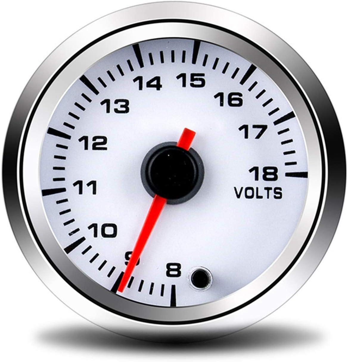 252mm Car Volts Meter 8-18V Auto Volts Gauge Mechanical