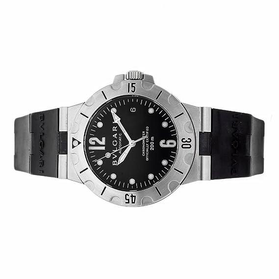2671d25fe96 Bvlgari diagono automatic-self-wind reloj para hombre SD 38 S (Certificado)  de segunda mano  Bvlgari  Amazon.es  Relojes