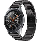 Kartice for Samsung Gear S3 Classic/Frontier Smartwatch Band 22MM Loop Stainless Steel Strap Buckle Strap Wrist Band for Gear S3 Frontier/Classic (A-Black)