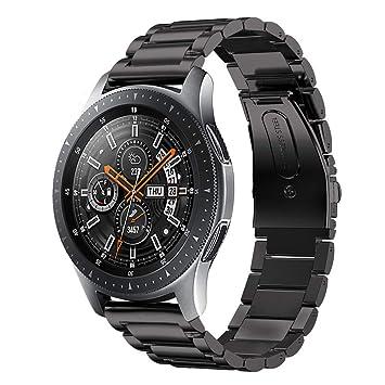 Aimtel Compatible con Samsung Galaxy (46 mm) Correa de Reloj, 22 mm de Acero Inoxidable Macizo Pulsera de Repuesto Compatible con Samsung Galaxy Watch ...