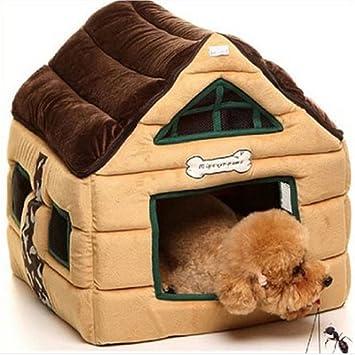 fairytek® Lujo Alta Gama Pet Cat Dog Invierno Cálido Casas Chocolate sala de perro Lovable Teddy camas para perros perro Perreras: Amazon.es: Productos para ...