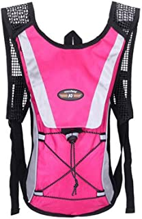 OCSOSO Cycling Hiking Backpack with 2L Water Bladder Bike Bag Climbing Pouch Hydration Pack Pink by OCSOSO