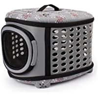 HORING Pet Carriers Handbag Cage Portable Foldable Cage for Dog Cat Puppy Travel and Outdoor Activities Grey