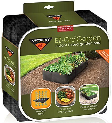 Amazoncom Victory 8 Fabric Raised Garden Bed 3x6 Feet Patio