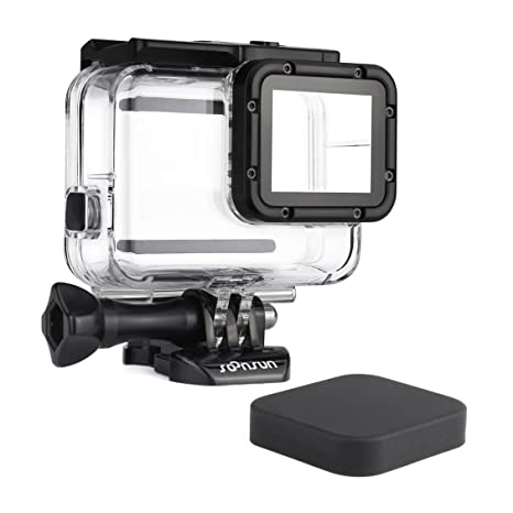 SOONSUN 45m Underwater Waterproof Dive Housing Case for GoPro Hero 5 Hero 6 Hero 2018 Hero 7 Black Camera - Includes Bracket Accessories and Silicone ...