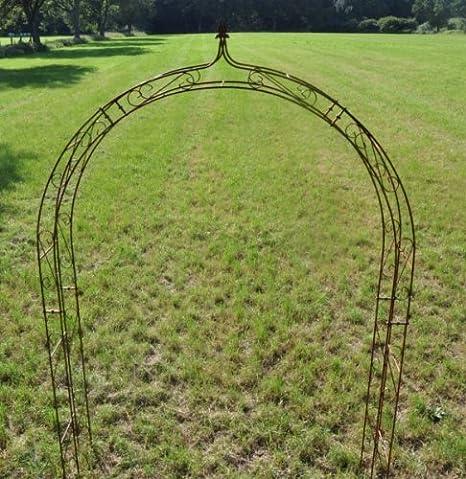 Kuheiga - Pérgola (hierro macizo, 10 mm) Anchura: 200 cm. Varillas redondeadas.: Amazon.es: Jardín