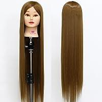 Neverland Beauty Tête à coiffurer Formation Mannequin Têtes d'exercice a coiffer 76cm 100% Cheveux synthétique + Titulaire #27