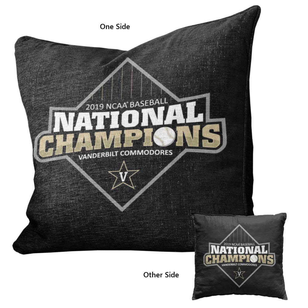 Vanderbilt University Commodores 2019 Baseball College World Series Champions Logo Pillow by College Flags and Banners Co.