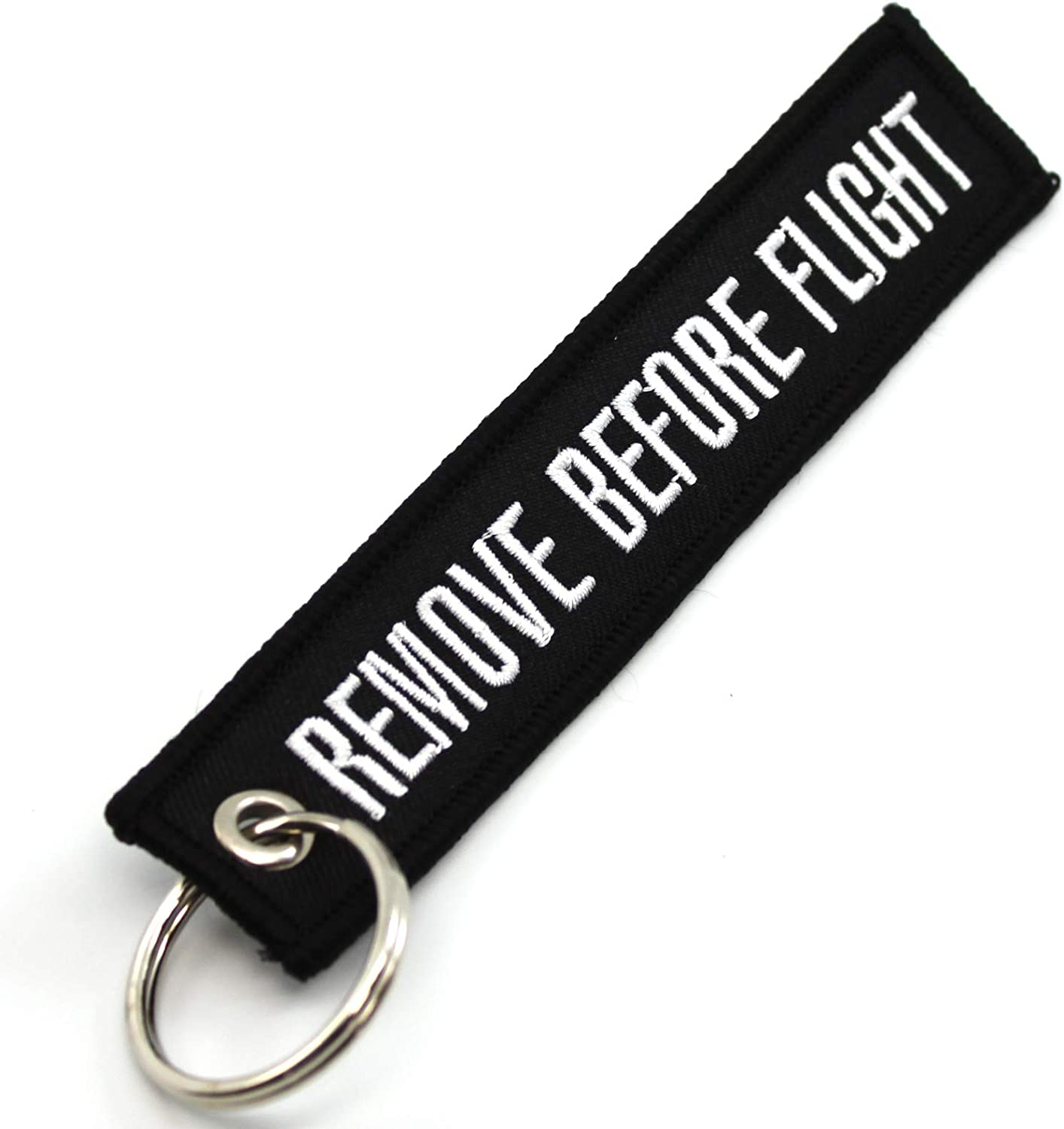 Remove Before Flight - Key Chain - Black at Amazon Men's Clothing store:  Automotive Key Chains