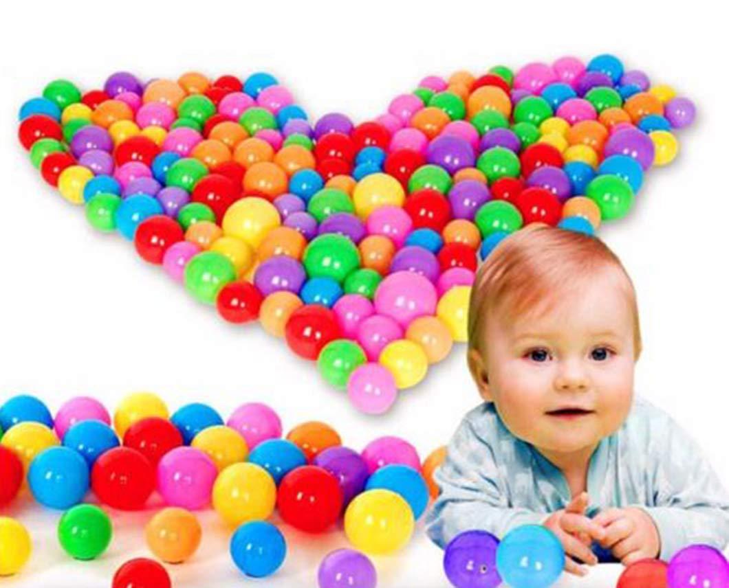 (100 Pcs) - Pit Balls Colourful Soft Plastic Ocean Balls Baby Kid Toys Swim Pit Toys Ball 20/50/100 PCS (100 pcs)  100 Pcs B07BWNN5MP
