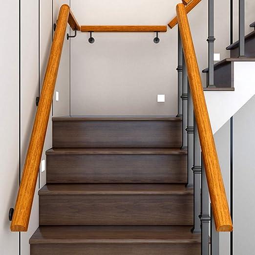 Pasamanos de la Escalera de Pino con Soporte de Acero Inoxidable Estable para Interior y Exterior, Balcón, Barandilla, Hay 19 Longitudes para Elegir!: Amazon.es: Hogar
