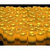 Alria Led Candles Flameless Smoke Free,Yellow,Set Of 24 Pcs + 2 Pcs Heart Shaped Led Candles