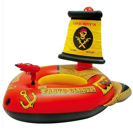 Anillo de natación flotante juguete pistola de agua de barco pirata flotador para piscina de Large
