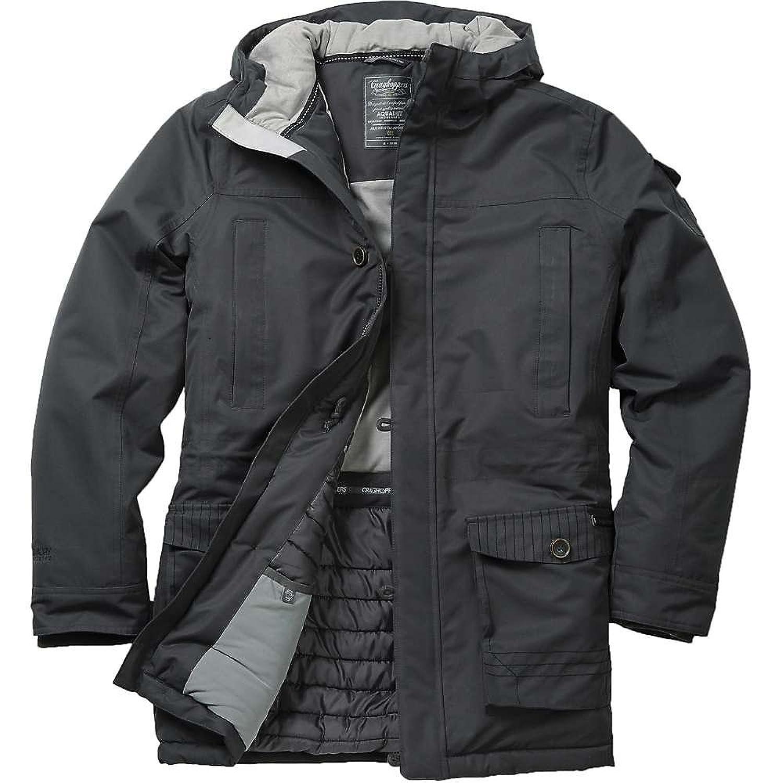 クラッグホッパーズ アウター ジャケットブルゾン Craghoppers Men's Nat Geo Finch Jacket Black Pepp [並行輸入品] B0781LK5MD  Medium