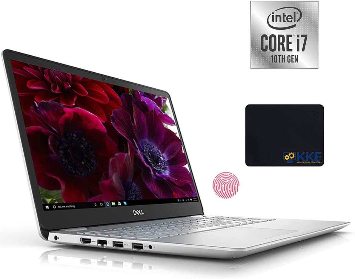 Dell 2020 Inspiron 5000 Series 15.6'' FHD Laptop, 10th Gen Intel Quad-Core i7-1065G7, 16GB DDR4 RAM, 512GB PCIe SSD + 1TB HDD, HDMI, Wireless-AC, Backlit Keyboard, Windows 10, Silver, KKE Mouse Pad