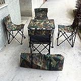 GuiXinWeiHeng Camping Folding Table and Chairs with Bag Fishing Garden Outdoor