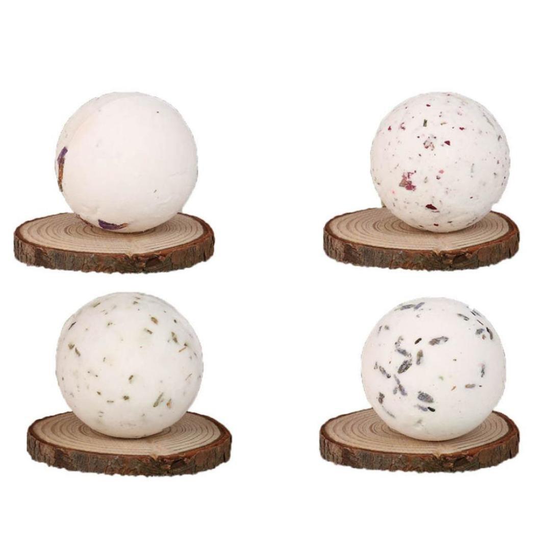 Bath Bombs,MuSheng(TM) Bath Bombs Ball Natural Sea Salt Lavender Bubble Essential Body Scrub Luxury Ballotin Handmade Bath Dry Skin Moisturize Spa
