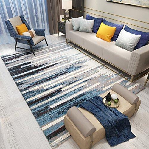 TMY Alfombras Minimalistas Modernas de la Mesa de Centro, alfombras Creativas a Rayas de la Comodidad, alfombras de cabecera...
