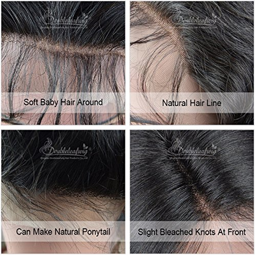 Doubleleafwig Body Wave Human Hair Lace Front Wigs 130% Density Brazilian Virgin Full Lace Wig with Baby Hair for Black Women 1B Ombre #4 Color (20 Inch, Lace Front Wig) by Doubleleafwig (Image #5)