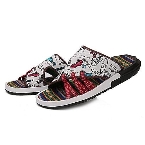 Sunny Sandalias De Tela De Goma Verano Antideslizante Hombres Tendencia Zapatos De Playa Zapatillas: Amazon.es: Zapatos y complementos