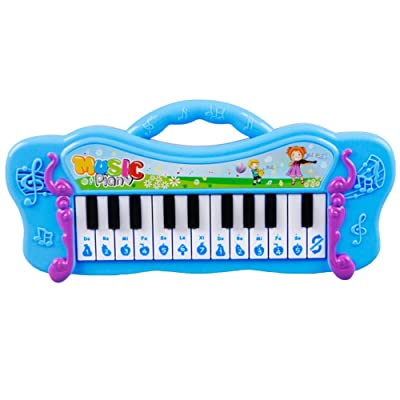 Finance Plan Musical Toy Kids Mini Electronic Piano Keyboard Musical Toy with 7 Pre-Loaded Demo Songs: Toys & Games