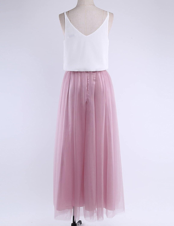 YiZYiF Damen A-Linie Kleid Festliche Kleider Brautjungfer Hochzeit