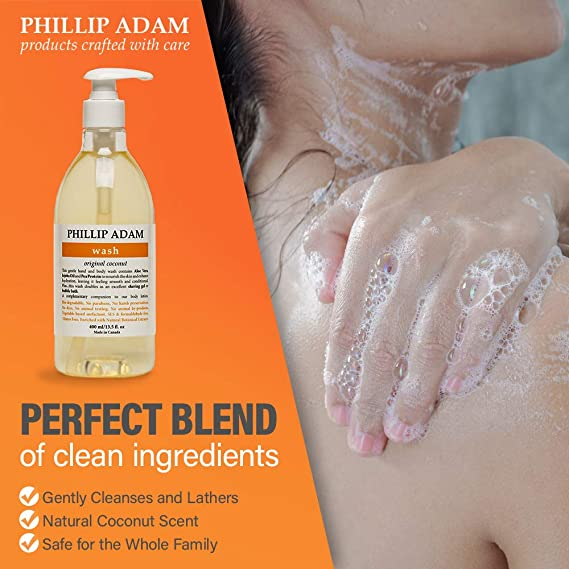 Phillip Adam Coconut Body Wash For All Skin Types Sulfate Free And Gluten Free All Natural Based Ingredients 13 5 Ounce Beauty