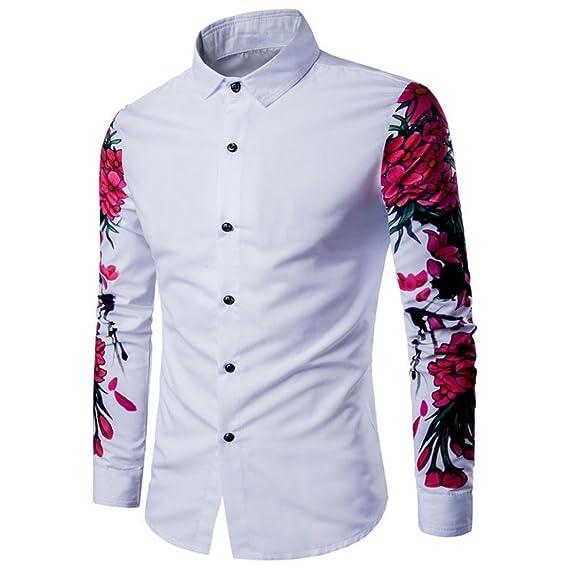 Culater® Camisas Estampado Hombre Manga Larga, Fashion Slim Fit Casual Shirts: Amazon.es: Ropa y accesorios