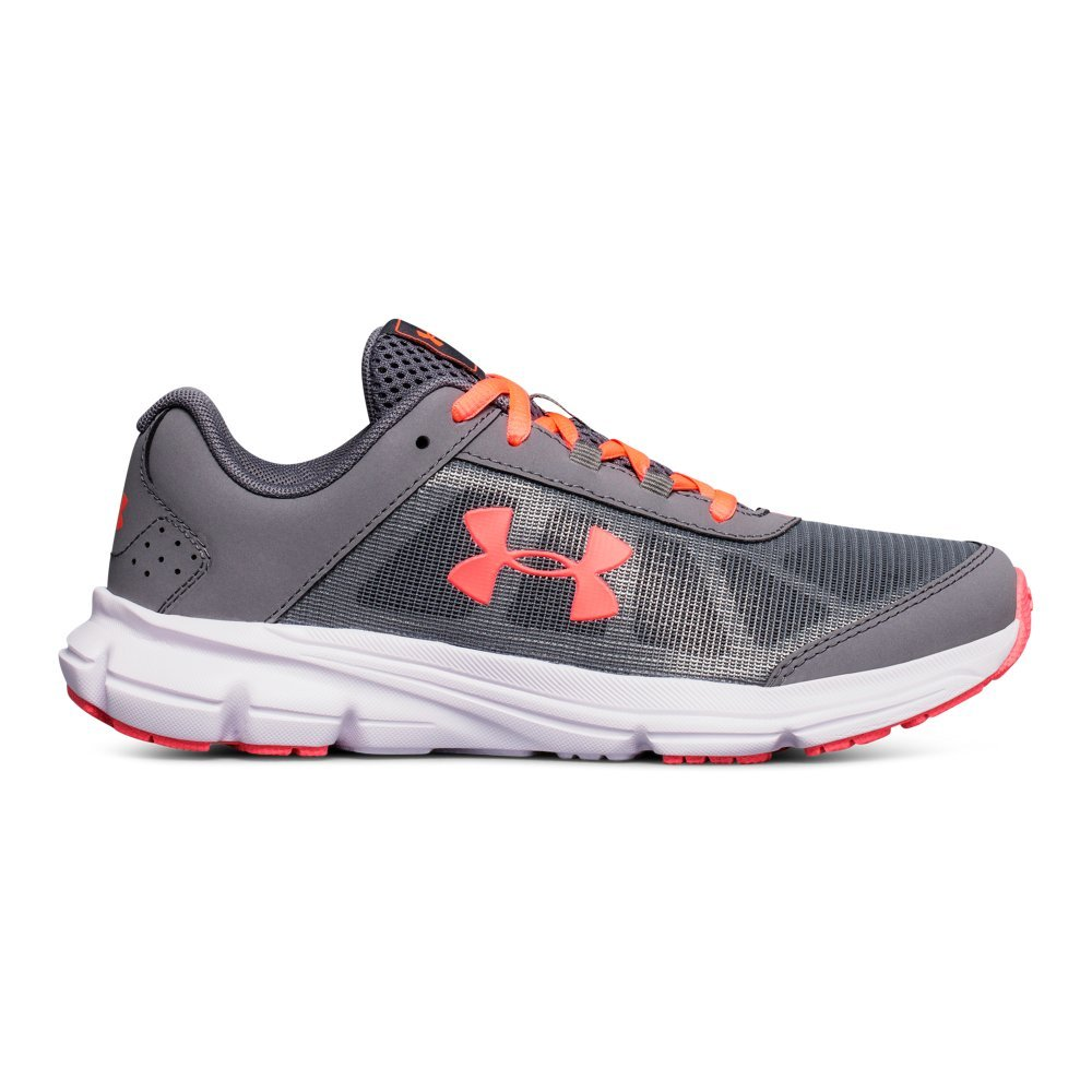 Under Armour Girls' Grade School Rave 2 Sneaker, Zinc Gray (100)/Brilliance, 3.5 by Under Armour (Image #1)