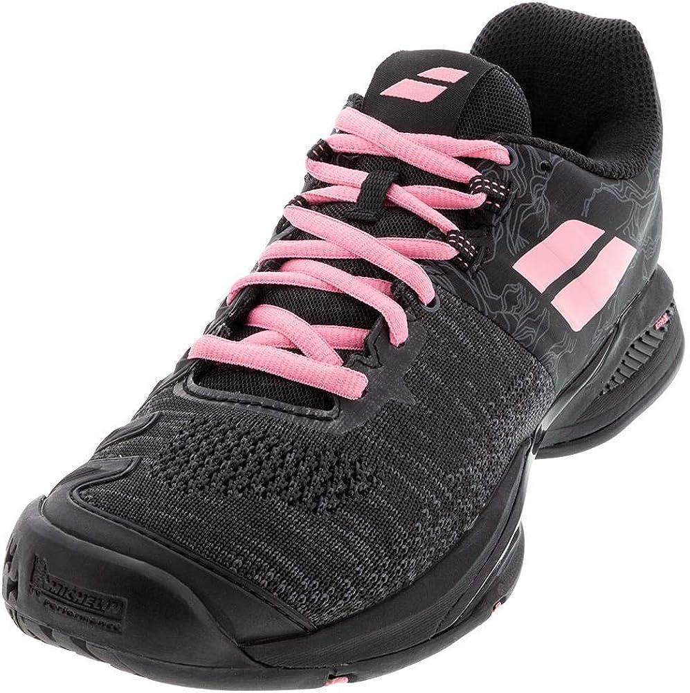 Babolat Women's Tennis Shoes|,| Black Geranium Pink|,| 7.5 us