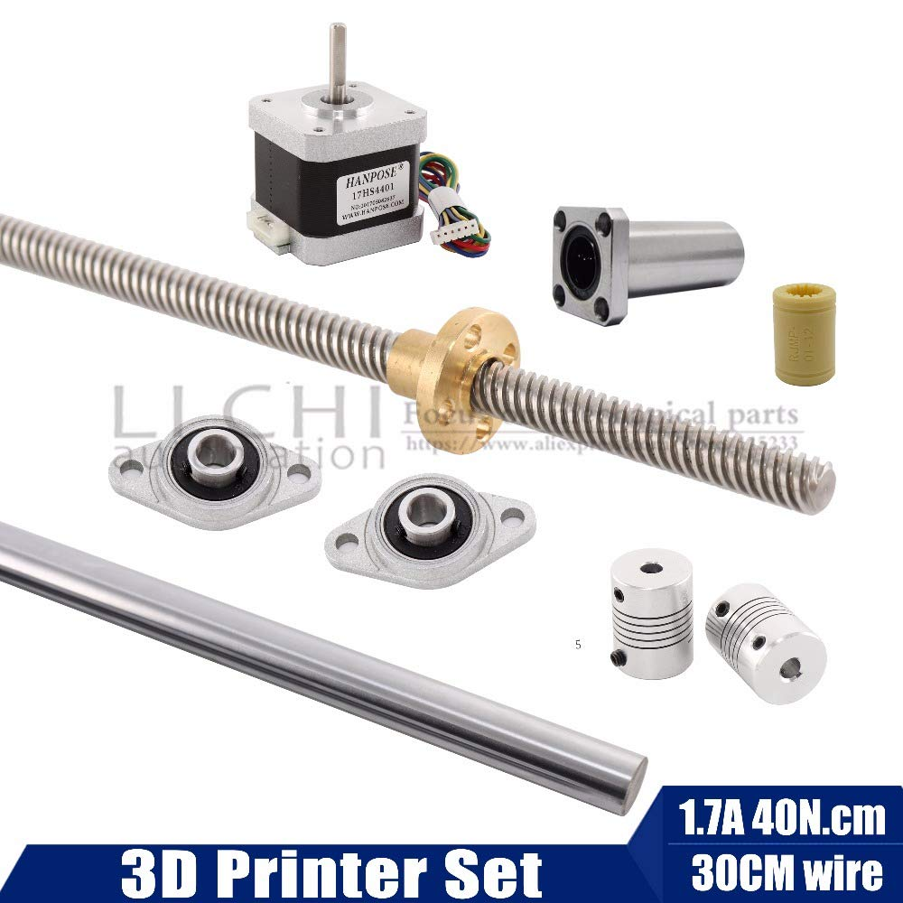 T8 Lead Screw Support Set Mounted Ball Self-aligning Bearing Pillow Block 8mm
