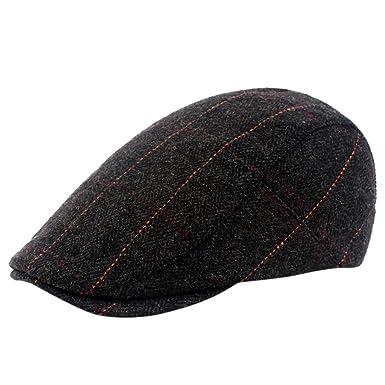 LOPILY Sombreros Gorra Plana para Hombre Color Sólido Boinas La ...