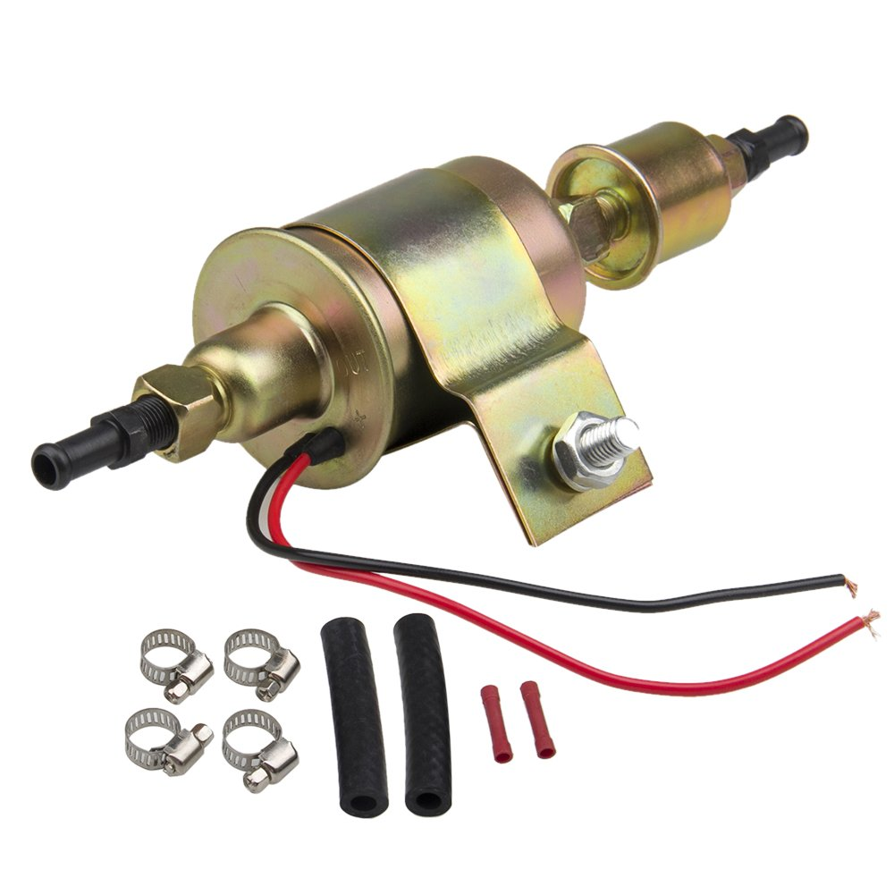 2 PACK CarBole High Performance Universal Electric Fuel Pump Self- primming Transfer Pumps 5/16 inch, 5-9 Psi, 20-30 GPH, 2 Wire Design?