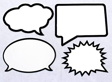 Amazon.com  Large Dry Erase Boards. Set of 4 Speech Bubbles. Durable ... 82de705f7c9