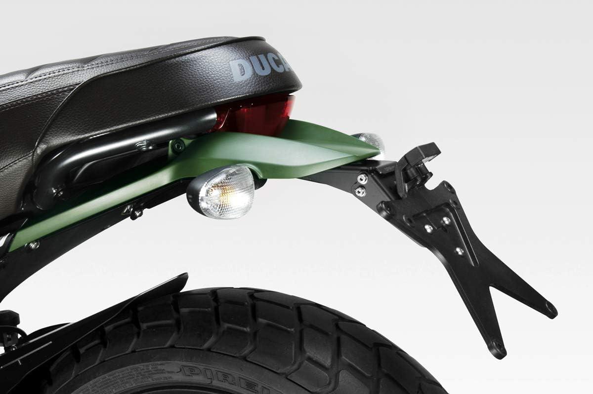 Kit Targa - Portatarga Inclinazione Regolabile DPM Race Ducati Scrambler 800 Desert Sled - 100/% Made in Italy Luce LED e Minuteria Inclusi D-0205 Accessori De Pretto Moto
