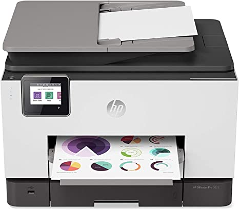 HP OfficeJet Pro 9025 All-in-One Wireless Printer, with Smart Home Office Productivity, Instant Ink & Amazon Dash Replenishment Ready (1MR66A)