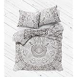 Exclusive Hamsa mandala duvet cover with pillowcases By Labhanshi, mandala bedding, mandala duvets, mandala bedroom decor, boho comforter cover