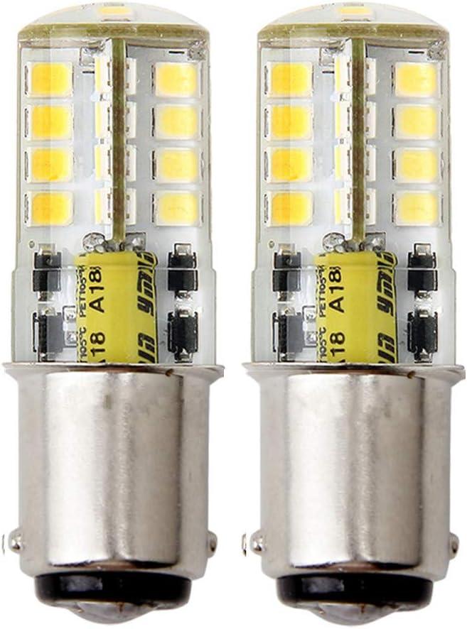 HRYSPN Ba15d LED Lámpara 5W AC/DC 12V,Equivalente 35W, 500LM SBC Bayoneta Bombilla de Contacto Doble, Blanco Fresco 6000K, para la Iluminación Interior de RV Camper Boat (2-Pack)