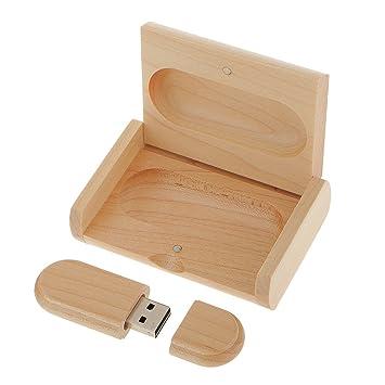 Memoria USB 2.0 Unidad Flash USB Forma Ovalda de Madera Arce con Caja Regalo Creativo: Amazon.es: Electrónica