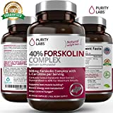 PurityLabs Forskolin Extract for Weight Loss – Standardized to 40%, 300mg Per Serving, Pure Coleus Forskohlii Appetite Suppressant for Women, 3 Month Supply, 90 Count