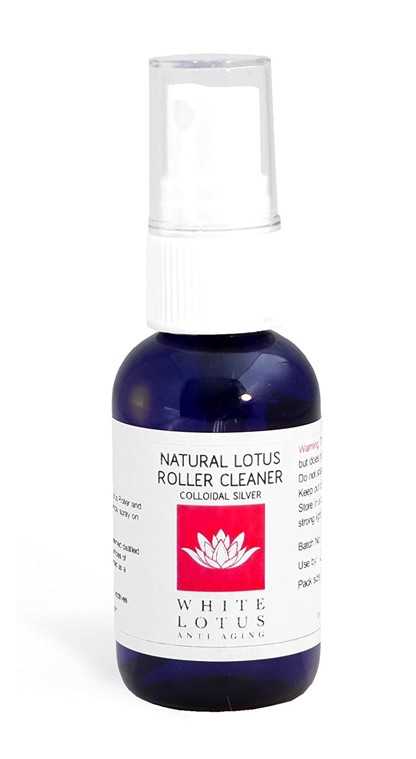 White Lotus Anti Aging: Kit Dermaroller- Derma Roller sin tóxicos, 0,5mm + Dermaroller Cleaner + Sérum Antiarrugas Orgánico Facial - Set Antiedad de ...