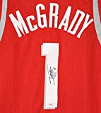 Tracy McGrady Houston Rockets Signed Autographed Red #1 Custom Jersey