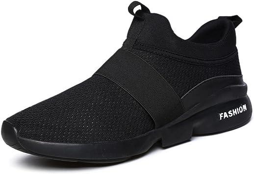 Zapatillas Running para Hombre, Gracosy Sneakers Calzado Deportivo Aire Libre Deportes Fitness Casual Sneakers Gimnasia Ligero Mujer Trenzado Zapatos Correr en Montaña y Asfalto Aire Negro 40 EU: Amazon.es: Deportes y aire