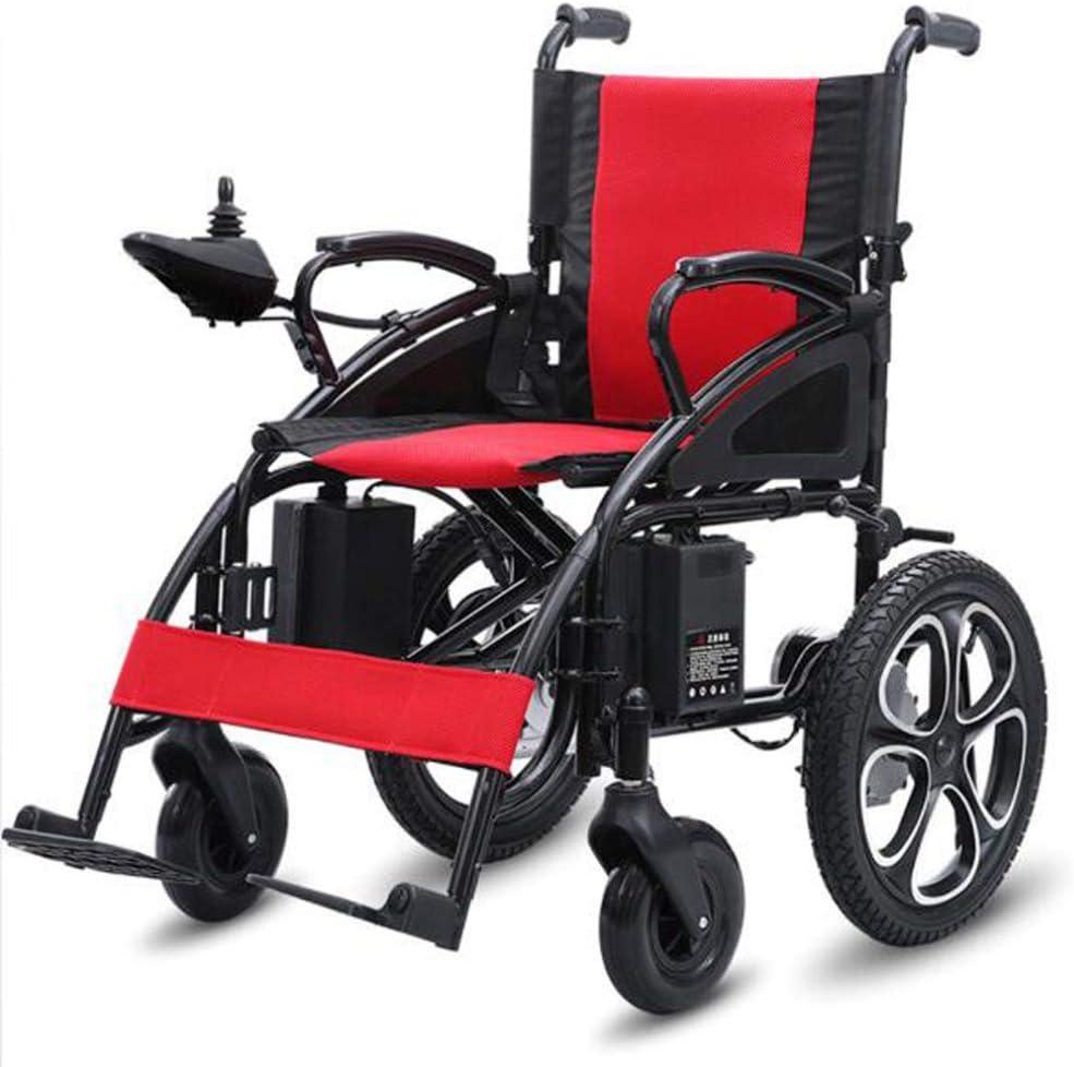 YOLL L&T Silla De Ruedas Inteligente Silla De Ruedas Eléctrica Power Chair Plegable Wheelchair Ligera De La Steel Silla,conduzca con Potencia O Use como Silla De Ruedas Manual a