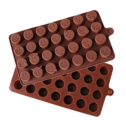 bestomz emoticônes silicona molde de chocolate Yourself de moldes para Chocolate tuercas