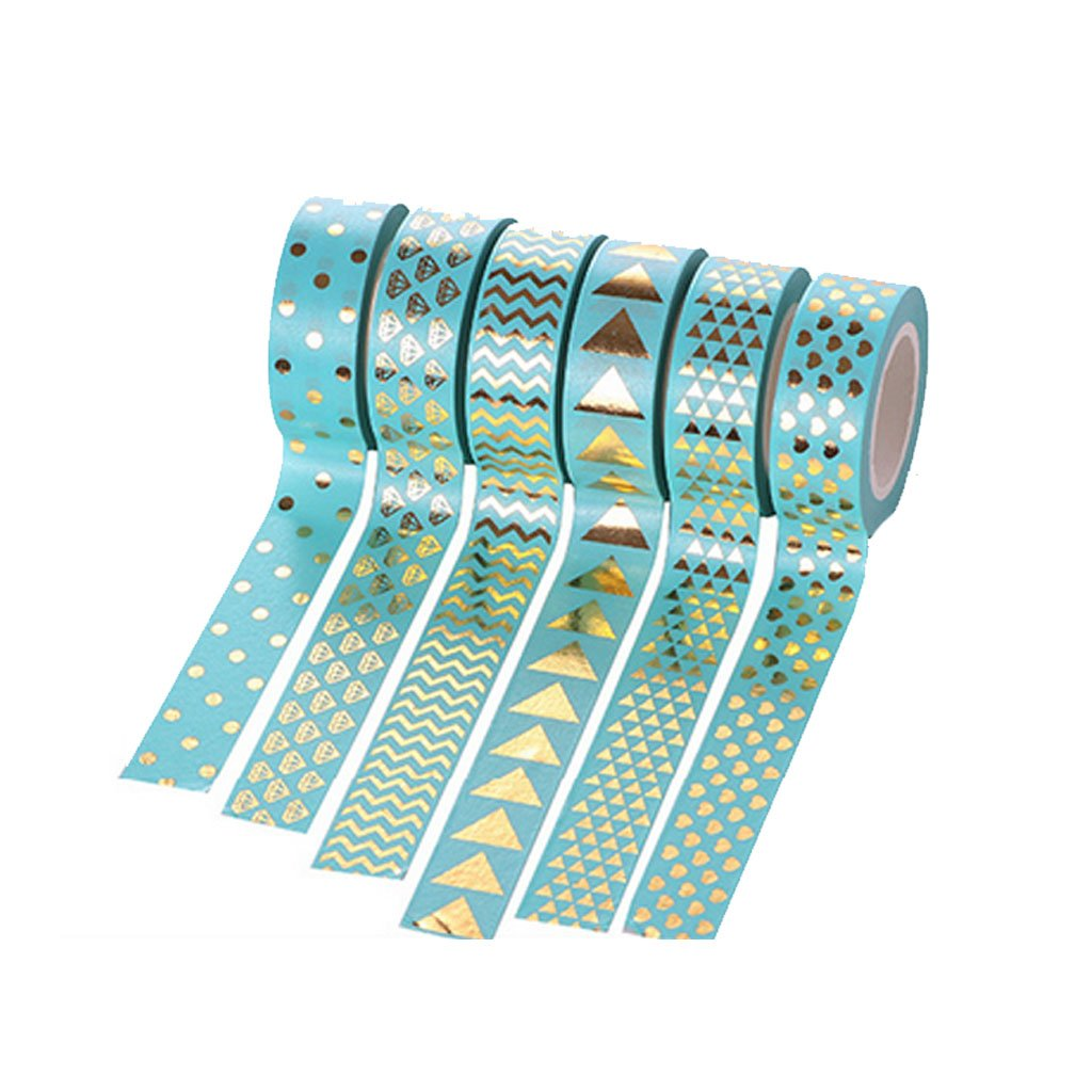 SELFON 10m DIY Washi Tape Cute Kawaii Adhesive Sticker For Paper Scrapbooking Book Decor (1 Pack/Green/Style Random)