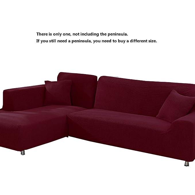 DFamily Funda de sofá elásticacolor Puro Fundas Gruesas para ...